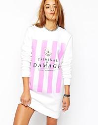 Свободное трикотажное платье Criminal Damage - Белый