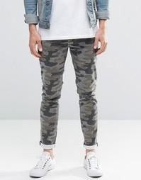 Камуфляжные джинсы скинни ASOS - Хаки