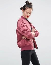 Куртка-пилот ASOS Ultimate - Ягодный