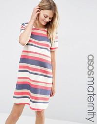 Цельнокройное платье в полоску для беременных ASOS Maternity - Полоски