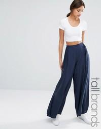 Широкие брюки с завышенной талией Vero Moda Tall - Темно-синий
