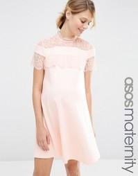 Приталенное платье для беременных ASOS Maternity - Blush