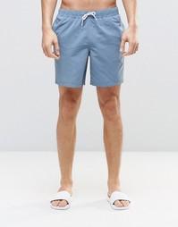 Синие шорты для плавания средней длины ASOS - Синий
