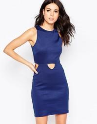 Платье мини с вырезом Oh My Love - Темно-синий