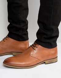 Selected Homme Bolton Leather Chukka Boots - Коричневый