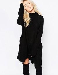 Черное трикотажное платье свободного кроя Free People Zoe - Черный