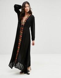 Черное платье с вышивкой Raga Drift Away - Черный