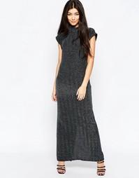 Цельнокройное платье без рукавов с высокой горловиной Ichi