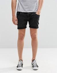 Черные джинсовые шорты скинни Brave Soul - Черный