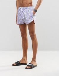 Короткие шорты для плавания Abuze London Nuh Answa - Фиолетовый