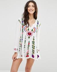 Платье с вышивкой Raga The Barbara - Белый