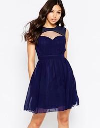 Короткое платье с декоративными вырезами Little Mistress - Темно-синий