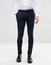 Супероблегающие строгие брюки ASOS - Темно-синий
