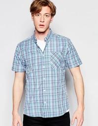 Клетчатая рубашка с короткими рукавами D-Struct - Синий