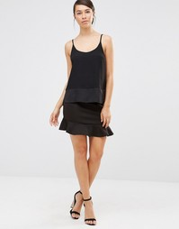 Мини-юбка с кромкой‑оборкой Lavand - Черный