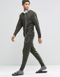 Зауженные штаны цвета хаки в стиле casual ASOS - Зеленый