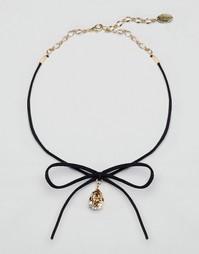 Ожерелье-чокер с кристаллом Swarovski Krystal - Topaz