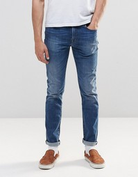 Умеренно выбеленные стретчевые джинсы слим Paul Smith
