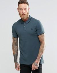 Серая футболка-поло узкого кроя с логотипом Paul Smith