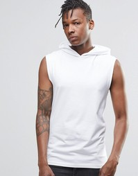 Белая футболка с капюшоном ASOS - Белый