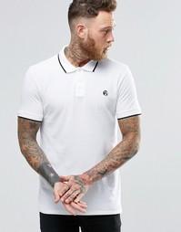 Белая футболка-поло узкого кроя с логотипом PS Paul Smith - Белый