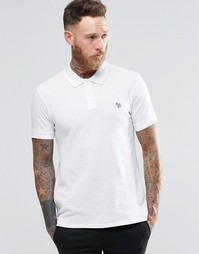 Белая футболка-поло узкого кроя с логотипом Paul Smith - Белый