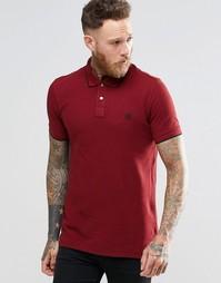Бордовая футболка-поло узкого кроя с логотипом PS Paul Smith