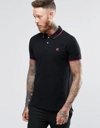 Черная футболка-поло узкого кроя с логотипом Paul Smith - Черный