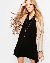 Укороченная куртка с бахромой Glamorous - Песок