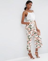 Юбка-шорты с широкими штанинами и цветочным принтом ASOS - Цветочный