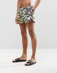 Короткие шорты для плавания с камуфляжным принтом Abuze London