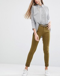 Зауженные джинсы цвета хаки PS by Paul Smith - 35 хаки