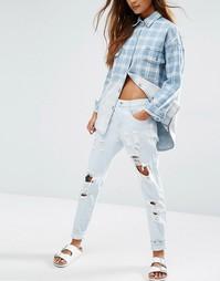 Рваные джинсы бойфренда Honey Punch - Синий