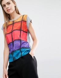 Неоновая футболка с сердечками PS by Paul Smith - 53 многоцветный