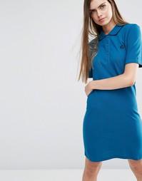 Синее платье-поло PS by Paul Smith - 46 сине-зеленый
