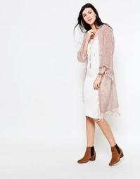 Бархатное кимоно Jayley - Blush