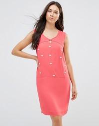 Цельнокройное платье с декоративной отделкой Lavand - Фуксия