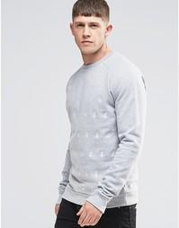 Свитшот с вышивкой Bellfield - Серый