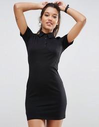 Платье-рубашка поло ASOS - Черный