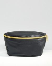 Сумка-кошелек на пояс в кожаном стиле Mi-Pac - Черный