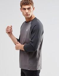 Серая футболка с рукавами реглан Pretty Green - Темно-серый