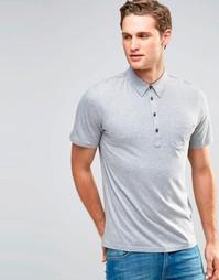 Трикотажная футболка-поло Farah - Серый