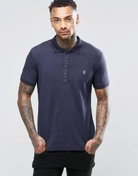 Трикотажная футболка-поло в крапинку Diesel T-Kalar-Dots - Темно-синий