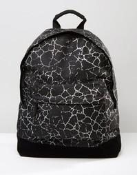 Черный рюкзак с принтом трещин Mi-Pac - Черный