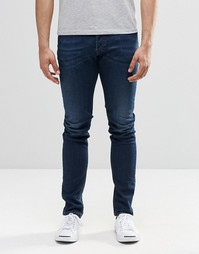 Темные зауженные джинсы Diesel Sleenker 854E - Темно-выбеленный