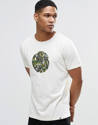 Белая футболка с камуфляжным логотипом Pretty Green - Stone