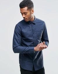 Рубашка с контрастными пуговицами Jack & Jones - Темно-синий