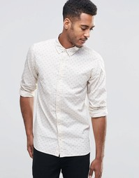 Рубашка с длинными рукавами и принтом птицы Jack & Jones - Белый