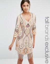 Платье мини с рукавами 1/2 Maya Tall - Мульти