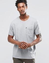 Серая меланжевая футболка с карманом Levi's Line 8 - Серый меланж